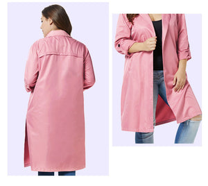 Large Size Women's Fat Mm Autumn and Winter Slim Windbreaker Jacket