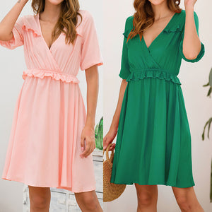 Loose Slim Short-sleeved Sweet Dress