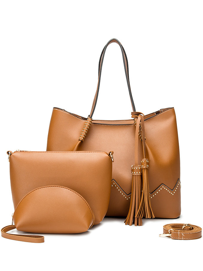 Three-piece PU Handbag Leather Bag