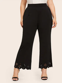 Large Size New Hollow Burnt Trousers