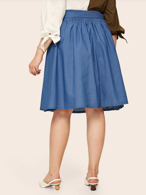 Women's Plus Size Denim Skirt