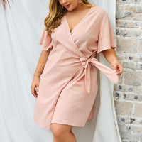 Large Size Women's Dress New V-neck Sexy Skirt