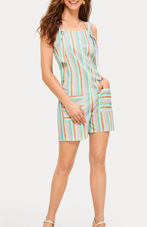 Summer Colorful Striped Strap Jumpsuit