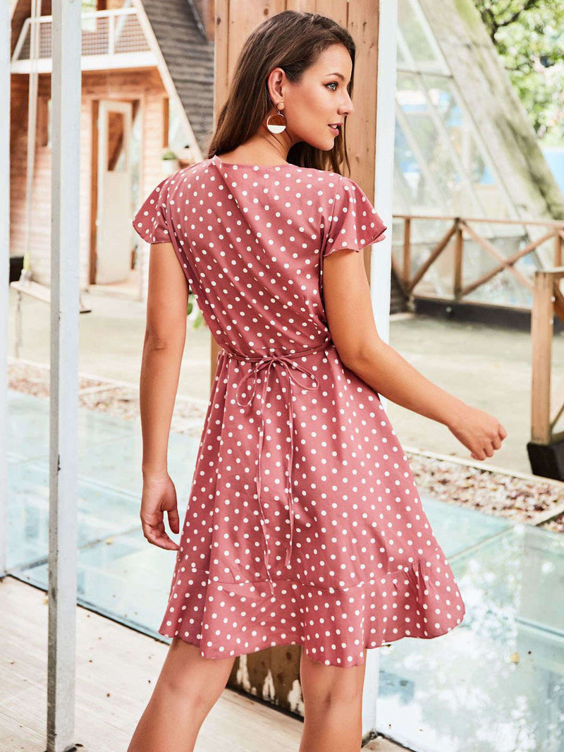 Original Design Women's Temperament Dress Polka Dot Dress