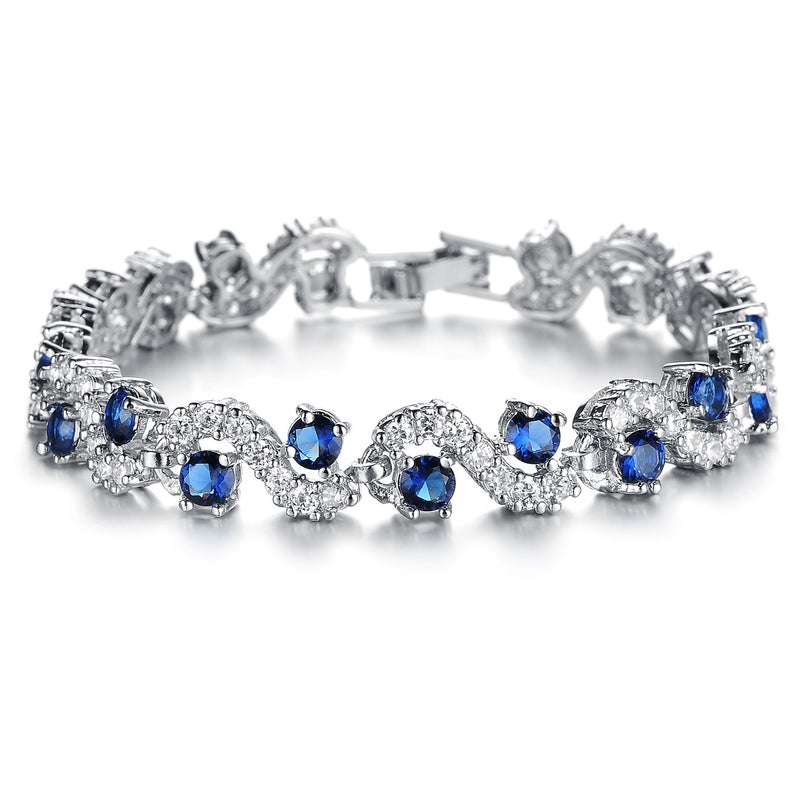 Fashion Joker Jewelry Exquisite Flash Diamond Jewelry AAA Zircon Platinum Plated Bracelet