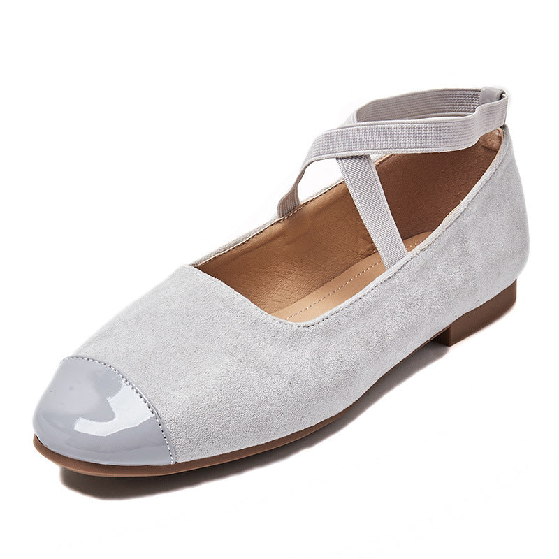 Autumn New Fashion Versatile Square Head Women's Shoes with Flat Bottom and Women's Shoes