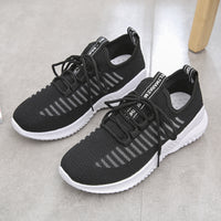 Mesh Microfiber Lightweight Cross Strap Sneakers