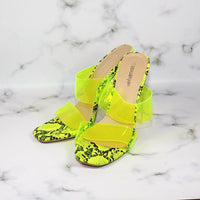 Fish Mouth Transparent Film Crystal Thick High Heel Sandals Large Size