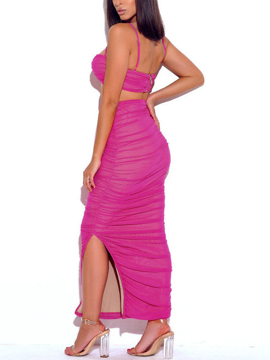 Sling Wrapped Chest Party Nightclub Sexy Dress Two-piece