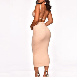 Sexy Backless Party Evening Dress Two-piece Suit