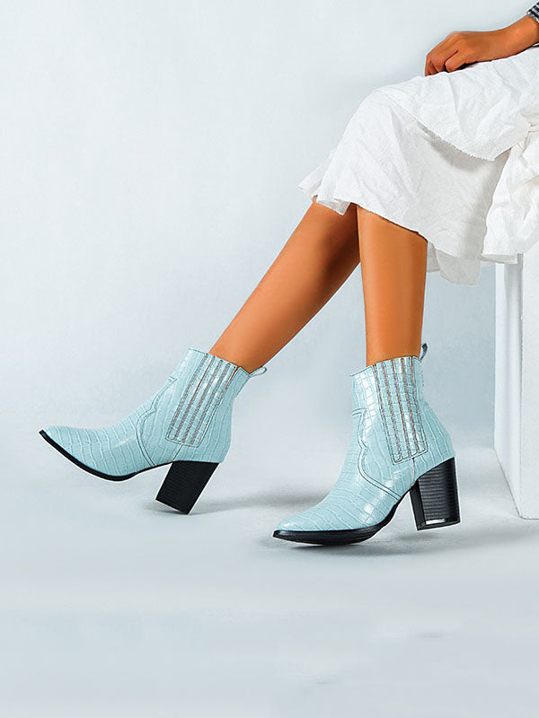 Autumn and Winter Fashion Booties Thick with High Heel Set Ladies Leather Boots Martin Boots