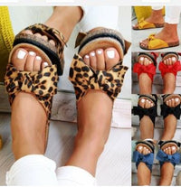 Summer Large Size Sandals Slippers Bow Sand Flip