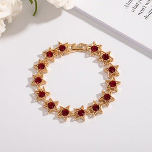 Fashion Gift Bracelet Artificial Rhinestone Alloy Bracelet