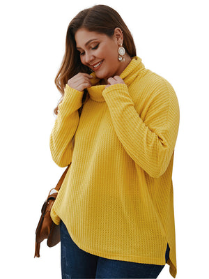 Large Size Women's Sweater Autumn and Winter Long-sleeved Shirt