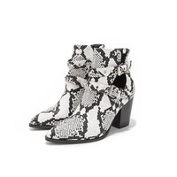 Autumn Short Tube Belt Buckle Printed Boots
