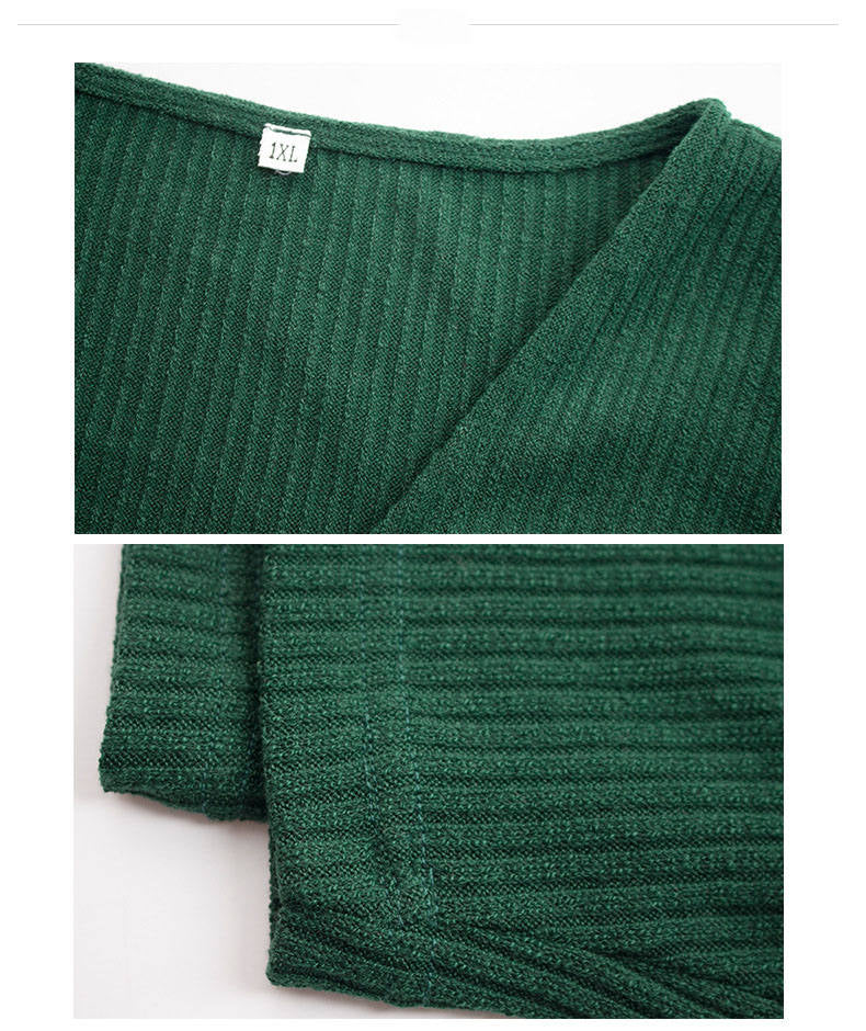 Large Size Women's Autumn and Winter Knit Dress