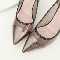 Autumn and Winter New Fashion Wild Pointed Women's Shoes Super High Heel Stiletto Women's Shoes
