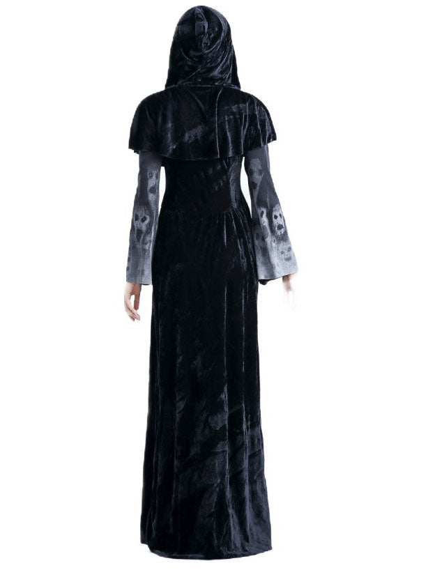 Halloween Adult Female Death Gown Horror Ghost Bar Cosplay Costume Death Vampire Costume