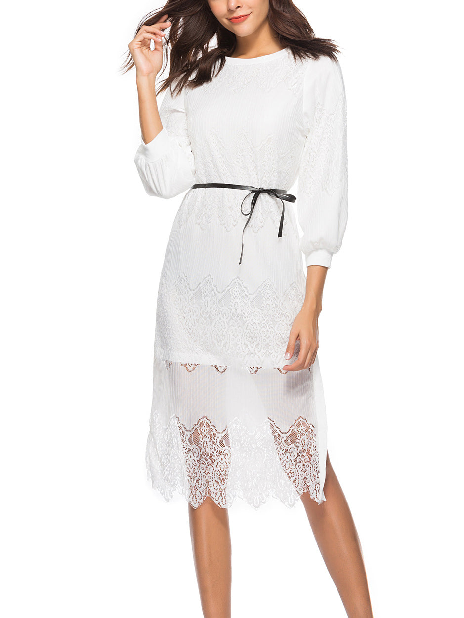 Women's Lace Casual Long Sleeve Dress