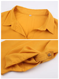 Autumn New Solid Color Long-sleeved Shirt