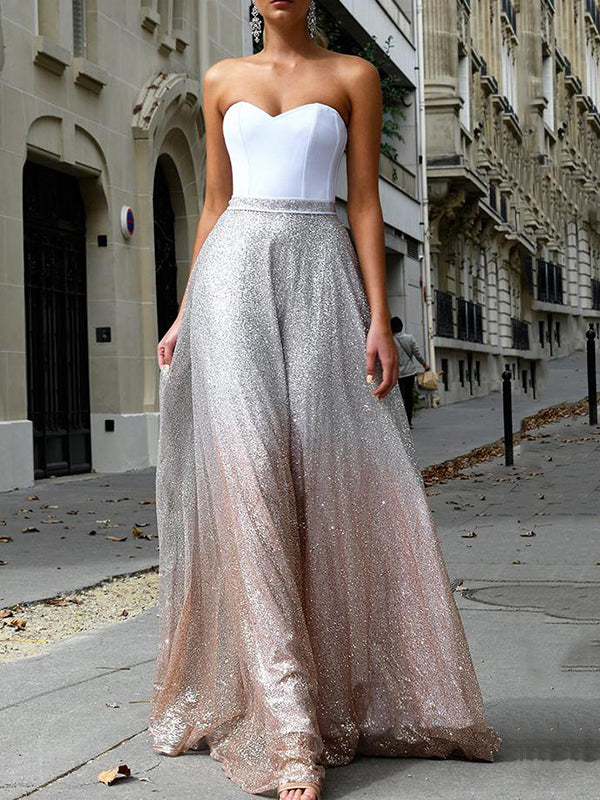 Sexy Sleeveless Sequined Tube Top Dress