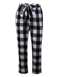 Autumn and Winter Plaid Nine Points Casual Pants Trousers Women's Clothing