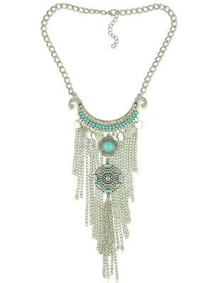 Bohemian Chain Fringed Clavicle Necklace Female