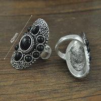 Bohemian Retro Metal Court Exaggerated Index Finger Ring