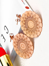 Temperament Peacock Screen Zircon Earrings Fashion Earrings