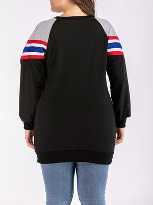 Round Neck Long Sleeve Plus Size Bottoming Shirt Women's Sweater