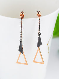 Simple Geometric Triangle Earrings