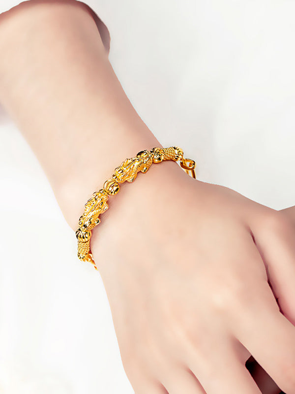 Copper Plated 18K Gold Vietnam Sand Gold Bracelet