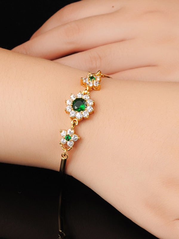 Fashion Crystal Diamond Chain Roman Shiny Zircon Bracelet