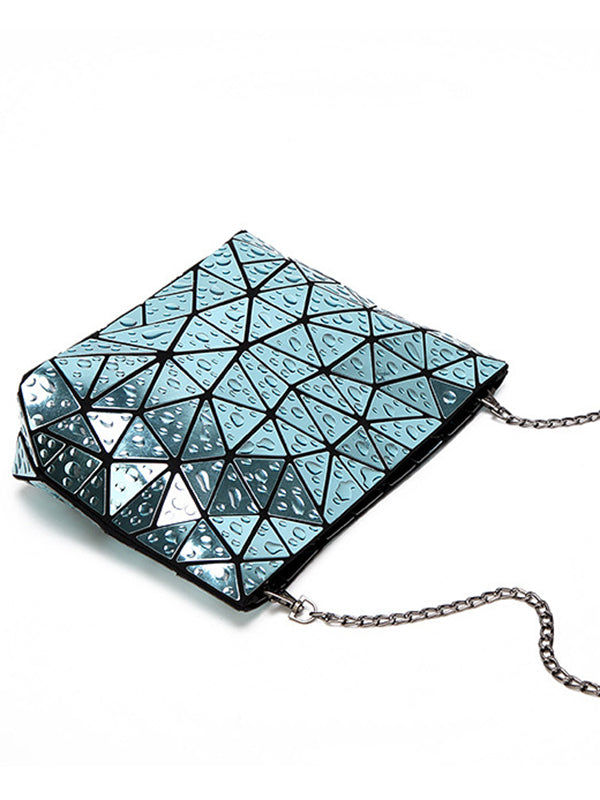 Water Droplets Laser Rhombic Geometry Handbag