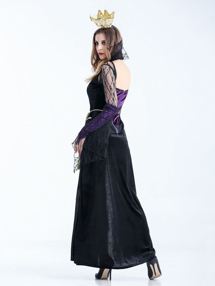 Halloween Cosplay Black Ghost Bride Witch Costume Plays