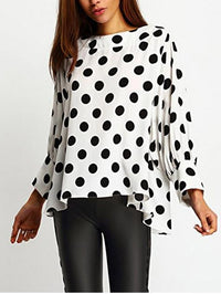 Wild Dot Shirt Big Size Slim Bottoming Shirt