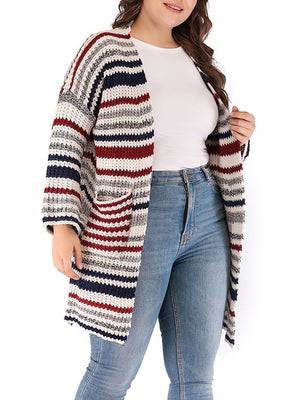 Fashion Sweater Long Section Coat Plus Size