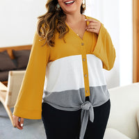 Plus Size Women's Slim Loose Sweater Long Sleeve Sweater