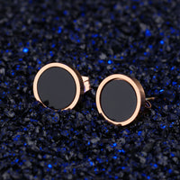Fashion Hipster Round Cake Rose Gold Earrings