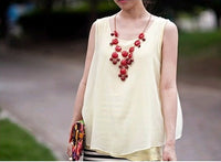 Candy-colored Sweet Style Into A Sweater Chain Candy Tassel Big Bubble Short Necklace Clavicle Chain