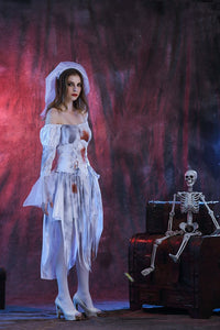 New Halloween Cosplay Bloody Mary Ghost Bridal Clothing Bar Nightclub Masquerade Stage Dress