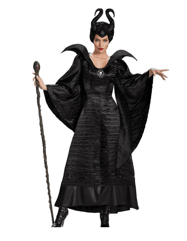 Sleeping Curse Black Witch Halloween Witch Costume Bar Party Costume Cosplay Performance Costume