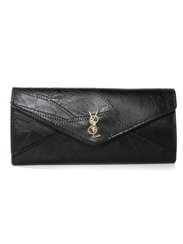 Women's Wallet Long Three Fold Multi-function Buckle Multi-card Clutch