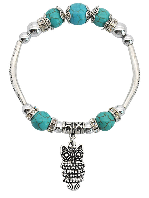 Fashion Beaded Owl Bracelet