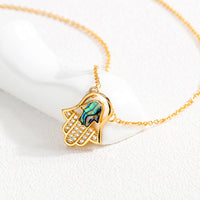 Fatima Hand Necklace Copper Plated Micro-Inlay Zircon Necklace