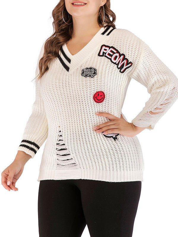 Fashion Plus Size Women's Sweater