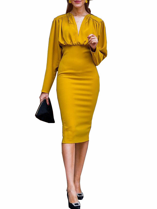 Sexy Slim Pack Hip Evening Dress Autumn Winter Dress Long Sleeve