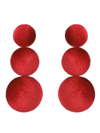 Bohemian Ethnic Ear Earrings Personalized Fashion Semi-final Pompom Earrings