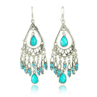 Vintage Earrings Water Drops Tassel Earrings Long Explosion Retro Alloy Earrings