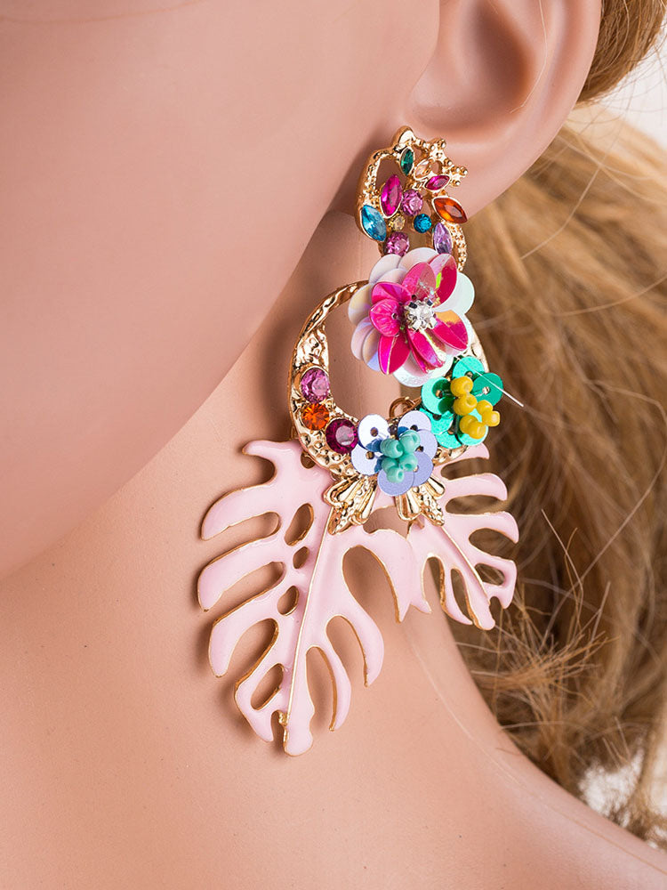High-end Creative Alloy Leaf Earrings